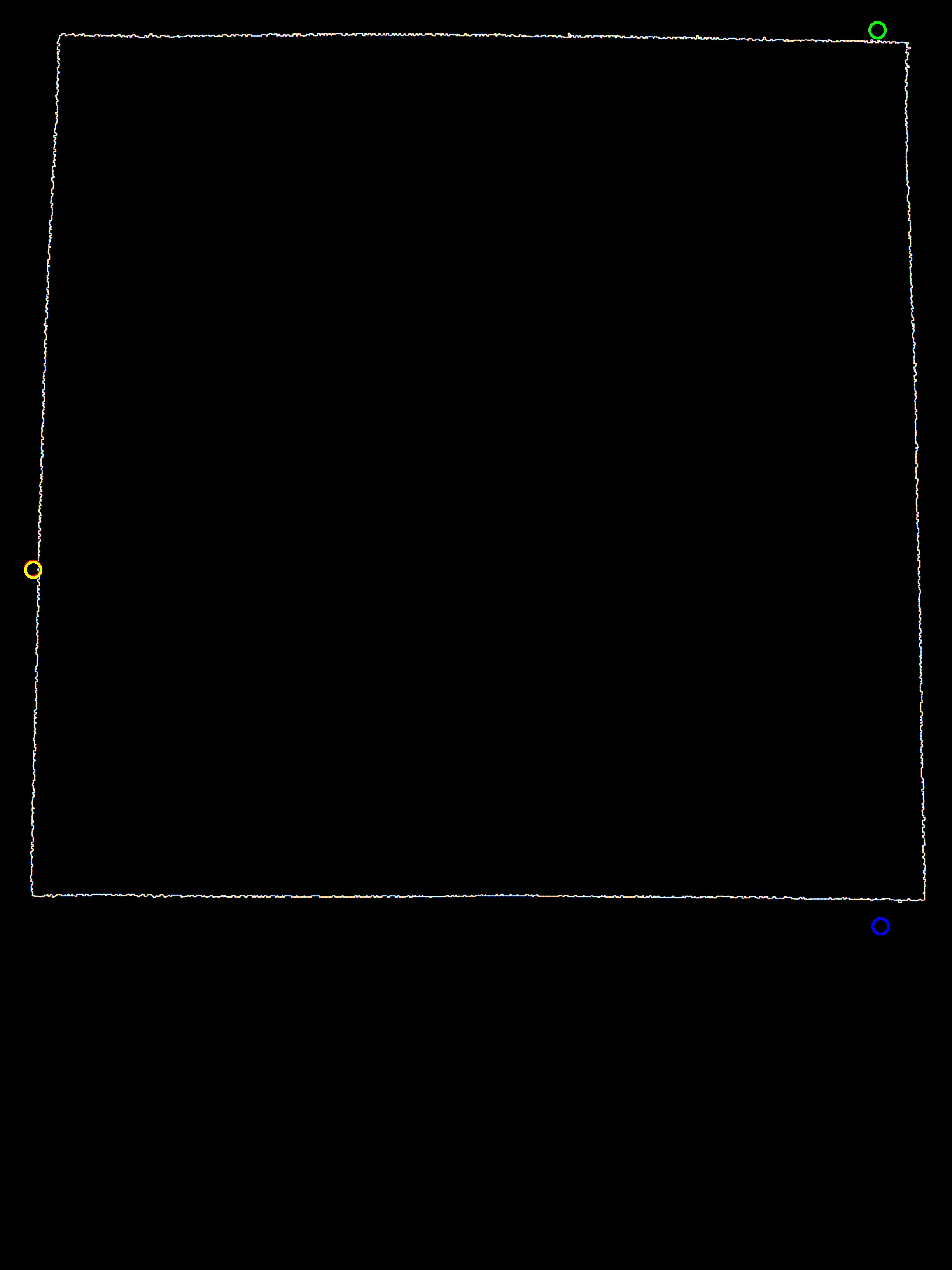 Android OpenCV find Square edges in contour then