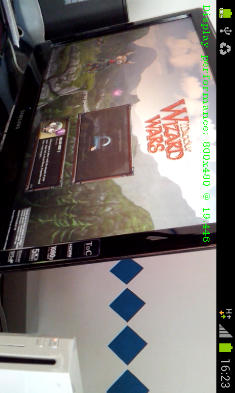 Android Native OpenCV sample: camera preview changes with