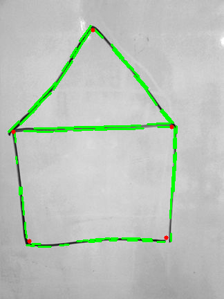 Corners and lines detection in hand drawn pictures in Python