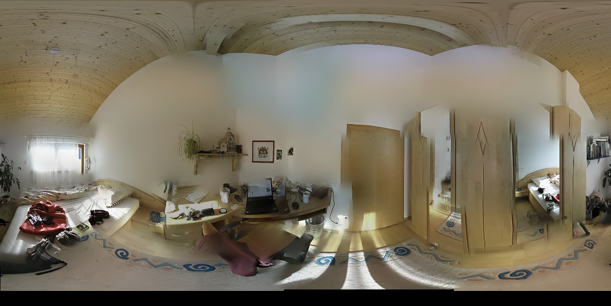 Utilise known extrinsic parameters when stitching panoramas