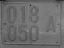 Gray Licence Plate