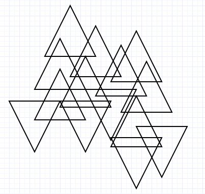 Image Two - multiple overlapped triangles