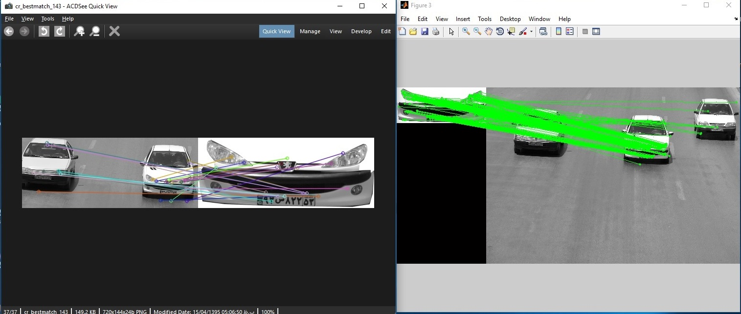 difference sift matching output in matlab and opencv ????? - OpenCV