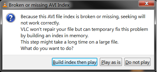 "Résultat de recherche d'images pour ""fixing avi index vlc how long"""