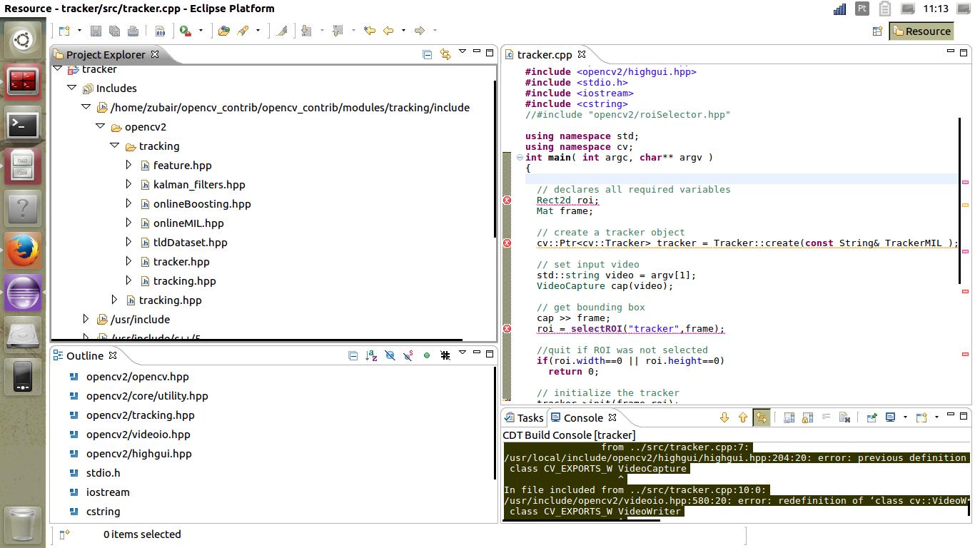 error using MIL tracker,opencv_contrib [closed] - OpenCV Q&A