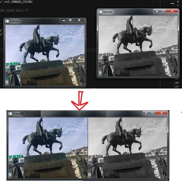 How to display multiple images in one window? - OpenCV Q&A Forum
