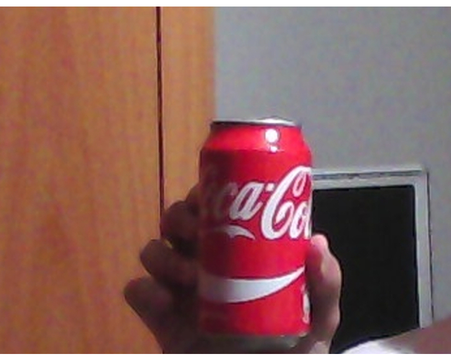 A cocacola can in scene