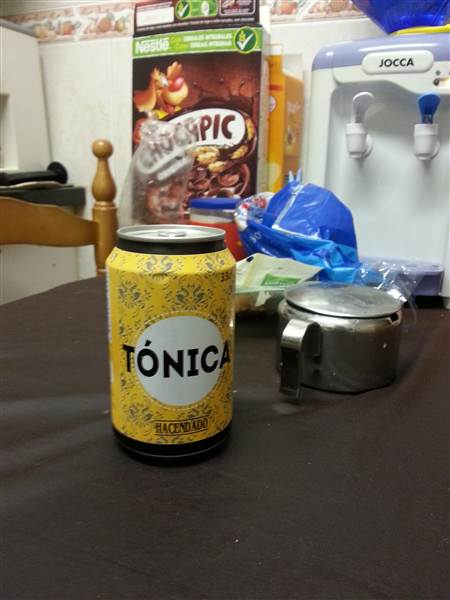 A tonica can in scene