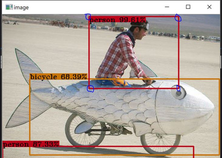 How to find edge pixel coordinates at corners of the bounding box
