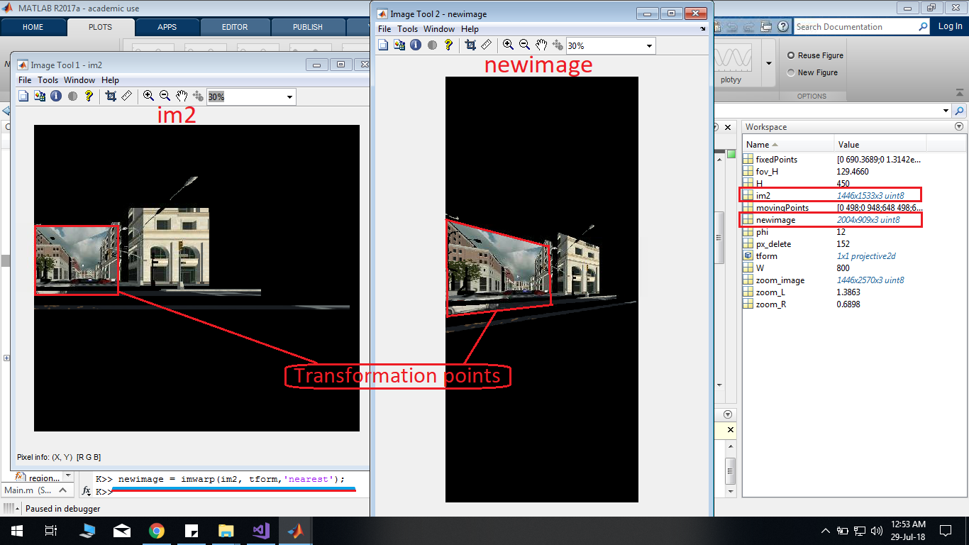 How to perform image warping