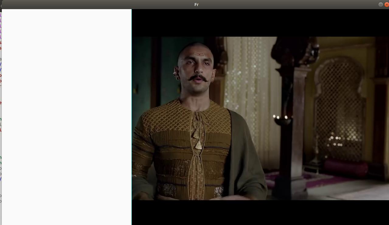 strange result of transformation of frame of VideoCapture